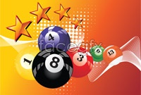 Link to5 piece dynamic billiard background vector