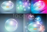 5 piece pearl bubble vector