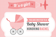 Link to5 pink infant party elements vector