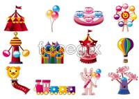 Link to5 playground cartoon vector