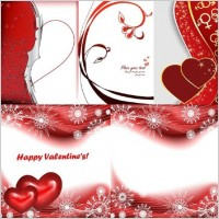 Link to5 red peach heart day clip art