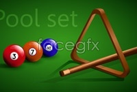 Link to5 snooker billiards vector