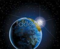 Link tovector background earth space 5