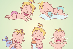 Link to5 stained babies vector