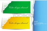 Link to5 tear origami card vector
