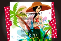 Link to5 tourism advertising background vector