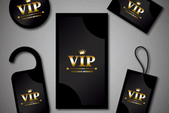 Link to5 vip black card vector