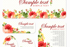 Link to5 watercolour cards rose design vector