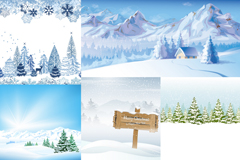 Link to5 winter snow-vector illustration