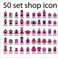 Link to50 kinds of store icon vector