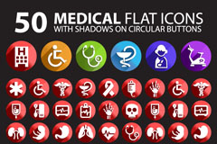 Link to50 medical icon vector