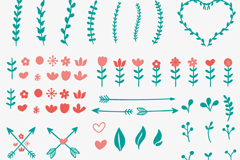 Link to52 branches and flowers design vector