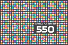 Link to550 flat icon vector