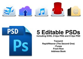 Link to5apps mobileme style icons