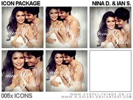 Link to5x nina dobrev and ian somerhalder icon package