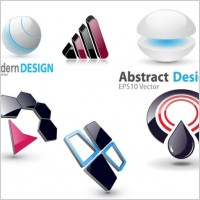 Link to6 3d vector graphics icon