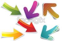 Link to6 beautiful arrow sticker vector