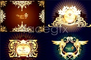 Link to6 beautiful ornate european-style border-vector