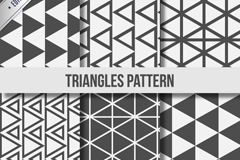 Link to6 black and white triangular seamless vector background
