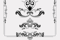 Link to6 black lace design and pattern vector