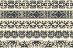 Link to6 black lace design vector