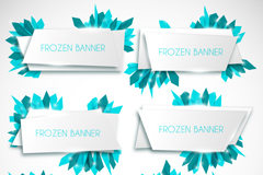 Link to6 blue ice background banner vector
