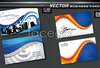 Link to6 business card template vector graphic