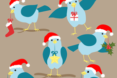 Link to6 cartoon bluebird vector