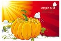 6 cartoon halloween pumpkin vector map