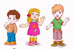 Link to6 cartoon kids design vector