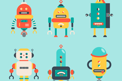 Link to6 cartoon robot design vector