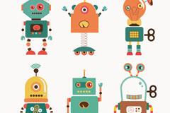 Link to6 cartoon robot vector