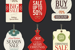 Link to6 christmas sale tag vector