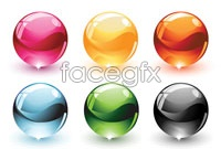 Link to6 color crystal balls vector graphics
