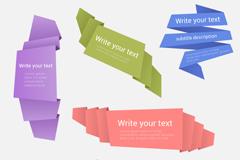 Link to6 color origami banner vector diagrams