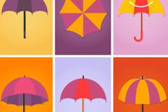 Link to6 color umbrella design vector