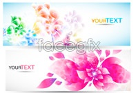 Link to6 colorful flower banner vector