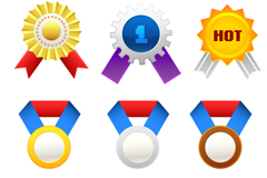 Link to6 colour medal the medal design vector