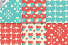 Link to6-colour of love background vector