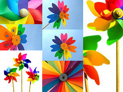 6 colourful windmill hd picture