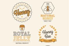 Link to6 creative honey label vector