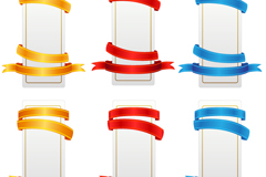 Link to6 design ribbon banner vector