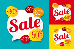 Link to6 discount bubble tag vector background