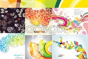 Link to6 fashionable background vector