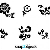 Link to6 floral vector