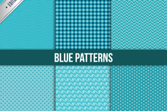Link to6 fresh blue seamless vector background