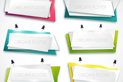 Link to6 geometric banner vector diagrams