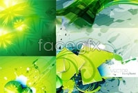 Link to6 green abstract background vector