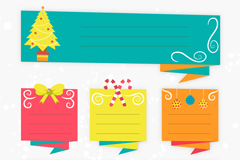 Link to6 holiday origami banner vector