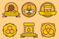 6 honey-element symbol vector